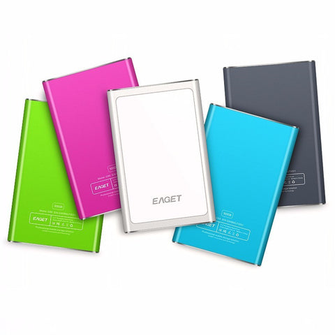 EAGET G90 500GB Hard Disk HDD 2.5'' Ultra-thin USB 3.0 High Speed 500G - Periwinkle Online