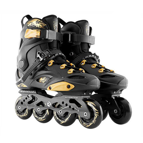 Japy Inline Skates Professional Patines For Street Free Skating - Black
