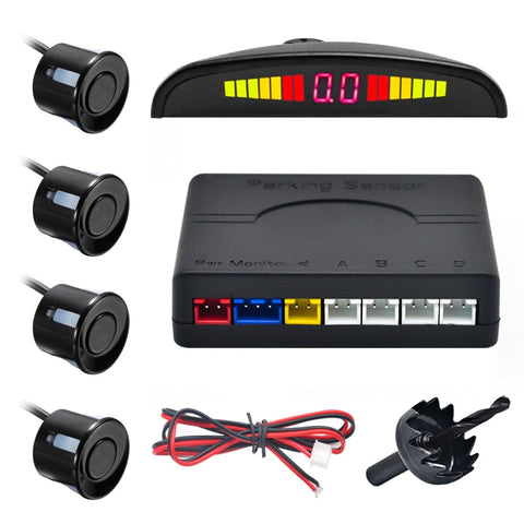 Car Auto Parktronic Display Parking Sensor with 4 sensors and 22mm LED Reverse Radar Monitor System