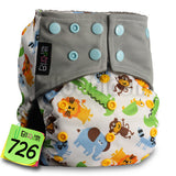 BAMBOO CHARCOAL Washable Cloth Nappy Baby Diaper Wrap * LittleBloom Baby Diaper - Periwinkle Online