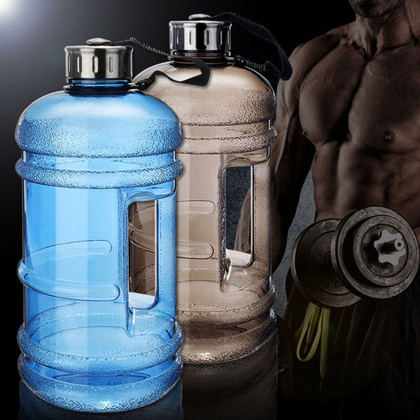 2.2L Large Capacity Water Bottles Outdoor Sports Gym Half Gallon Workout Water Bottle