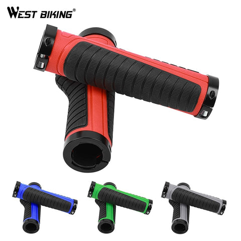 West Biking Bike Handlebar Grip Rubber Anti-Skid Ergonomic MTB