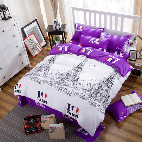 4pcs/3pcs Duvet Cover Flat Sheet Pillowcase Cities Oversten AliExpress - Periwinkle Online