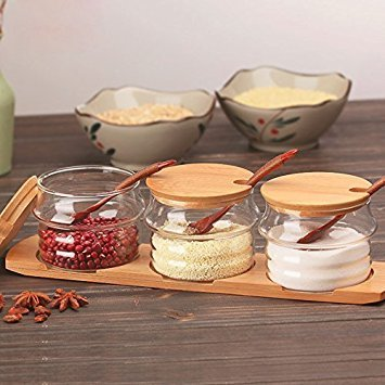 Bamboo Tray for Condiment Pots
