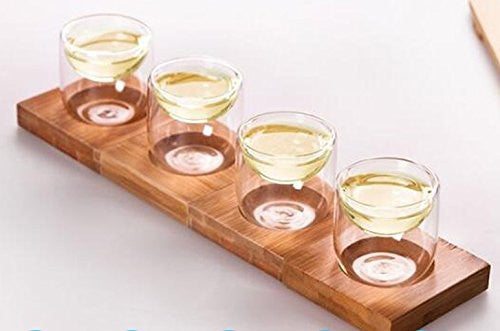 Tea Cups with Bamboo Tray