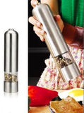 Silver Deluxe Electric Steel Salt and Pepper Grinder