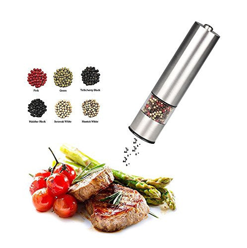 Royal Electric Steel Salt and Pepper Grinder