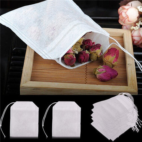 100-piece Disposable Tea Filter Bags & 16 Shapes Cappuccino Coffee