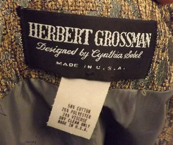 70s Herbert Grossman Cynthia Sorbel Green Evening Dress Suit Size 16 - The Blackwolf Shop Vintage Clothing for Men and Women, Antiques and Estate Jewerly