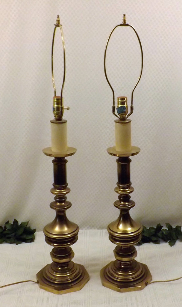 Westwood Solid Brass Pair Candlestick Table Lamps