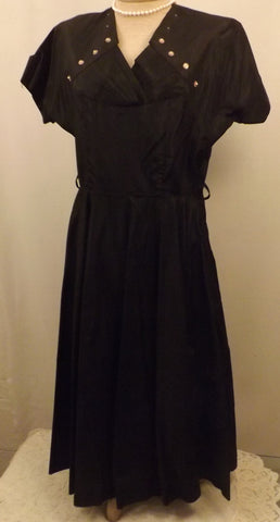 Black Satin Evening Dress Cocktail Dress