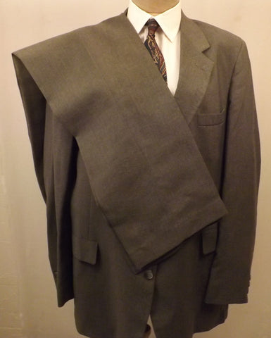 80s Mens Suit Gray Suit by Levis Business Class  Size 44L