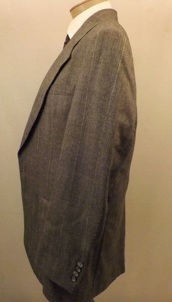 70s Mens Suit Hart Schaffner Marx Gray Check Wool Size 40R - The Blackwolf Shop Vintage Clothing for Men and Women, Antiques and Estate Jewerly