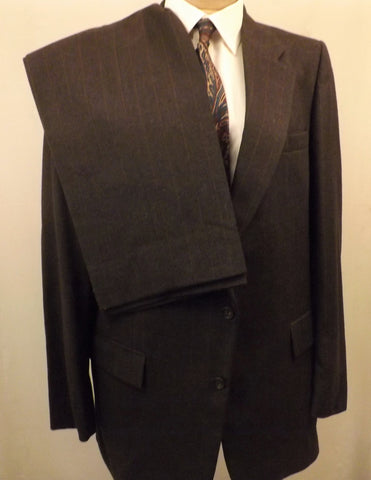 70s Mens Suit by Harve Benard Gray Wool Size 42R