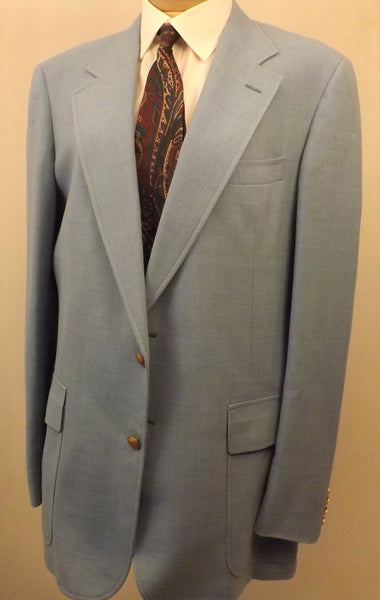 70s Cricketeer Wimbledon Blue Sport Coat Size 40 L - The Blackwolf Shop Vintage Clothing for Men and Women, Antiques and Estate Jewerly