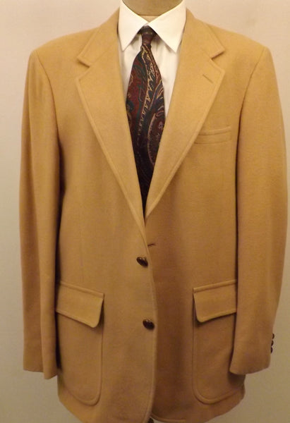 70s Mens Woolrich Wool Sport Coat Camel Color Size 40R - The Blackwolf Shop Vintage Clothing for Men and Women, Antiques and Estate Jewerly