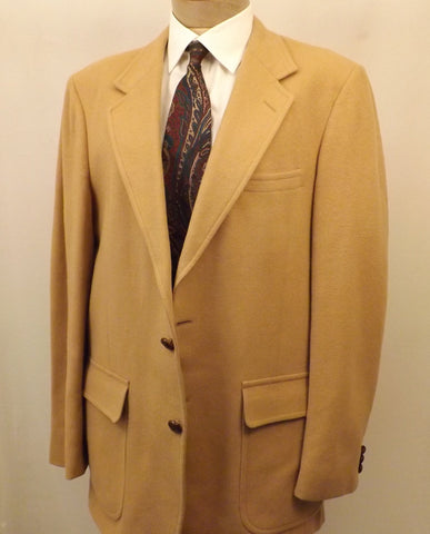 70s Mens Woolrich Wool Sport Coat Camel Color Size 40R