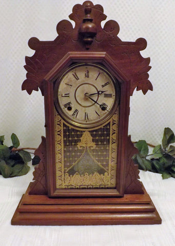 1881 Antique Rare The E Ingraham & Co Gingerbread Kitchen Clock