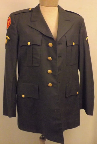 Vintage 50s US Army Dress Jacket  Spec 5  25th Infantry Size 40 L - The Blackwolf Shop Vintage Clothing for Men and Women, Antiques and Estate Jewerly