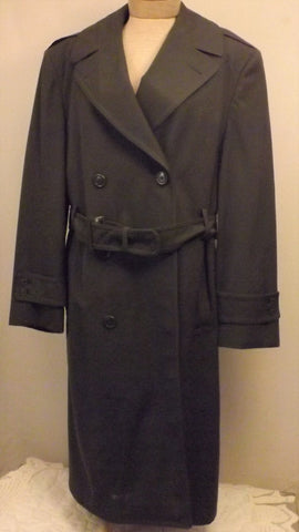 50s US Army Wool Gabardine Overcoat Top Coat Lined Size 40 - The Blackwolf Shop Vintage Clothing for Men and Women, Antiques and Estate Jewerly