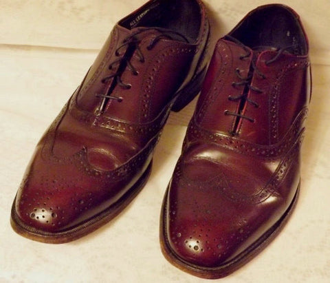 70s Vintage Mens Hanover Oxblood Wing Tip Mens Brogue Shoes  8 E C - The Blackwolf Shop Vintage Clothing for Men and Women, Antiques and Estate Jewerly