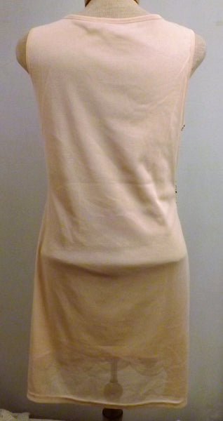 Teardrop Sequin Sleeveless Party Dress Evening Dress Size 6  Beige Tan - The Blackwolf Shop