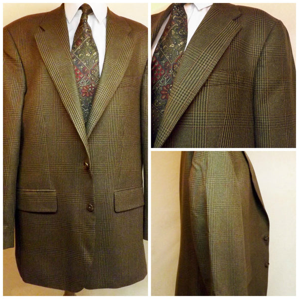 80s Polo Brown Wool Mens Sport Coat Size 42R by Ralph Lauren - The Blackwolf Shop Vintage Clothing for Men and Women, Antiques and Estate Jewerly