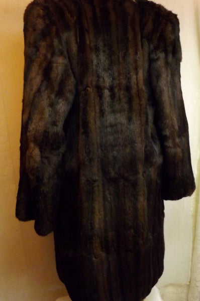 Vintage 40s Mink Fur Coat  Dark Brown Size L York Fur Co - The Blackwolf Shop Vintage Clothing for Men and Women, Antiques and Estate Jewerly