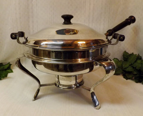 40s Chafing Dish Armor Silver EPC Silver Plate Warming Server - The Blackwolf Shop Vintage Clothing for Men and Women, Antiques and Estate Jewerly