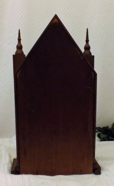 1870 Antique Waterbury Steeple Clock Mahogany Veneer 30 Hr w Chime