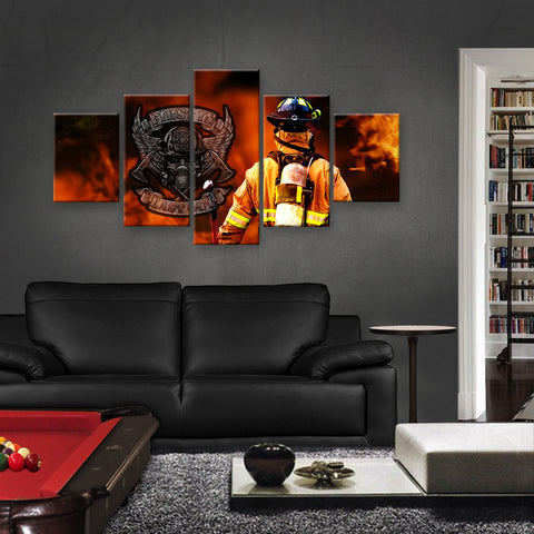 HD PRINTED LIMITED EDITION FIREFIGHTER CANVAS (FIRE159001)