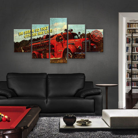 HD PRINTED LIMITED EDITION FIREFIGHTER CANVAS (FIRE159002)
