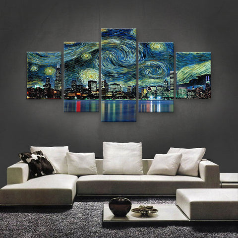 HD PRINTED LIMITED EDITION THE STARRY NIGHT, VAN GOGH, CHICAGO CANVAS (SKC155019)