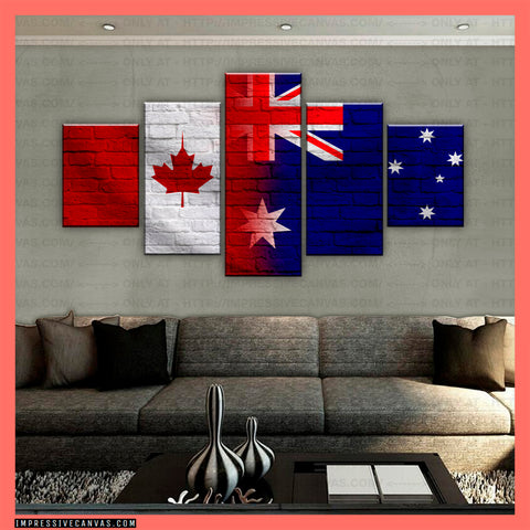 HD PRINTED LIMITED EDITION CANADIAN - AUSTRALIAN (AUSTRALIA) CANVAS (CANAU210002)