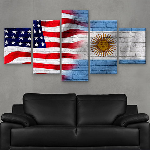HD PRINTED LIMITED EDITION AMERICAN - ARGENTINE (ARGENTINA) FLAG CANVAS (FLAG120044)
