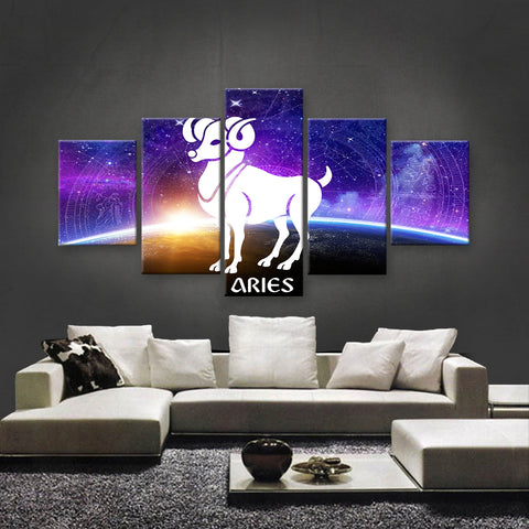 HD PRINTED LIMITED EDITION ZODIAC SIGN ARIES CANVAS (ZSIGN310003)
