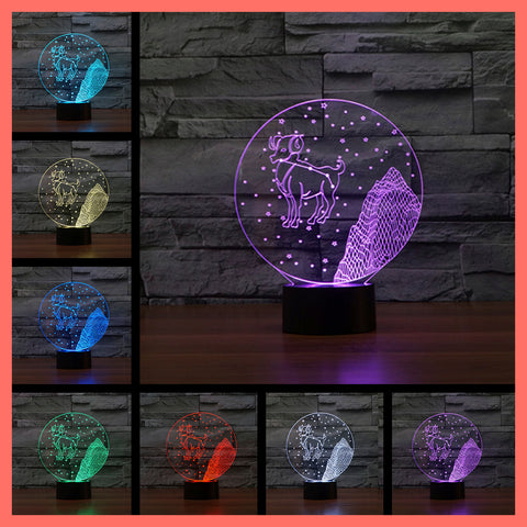 SMART TOUCH 3D LED LAMP ZODIAC ARIES SIGN (ZLED610001)
