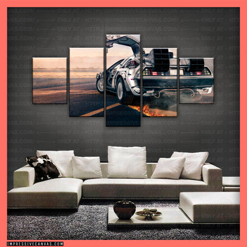 HD PRINTED LIMITED EDITION CAR CANVAS (BACK TO THE FUTURE) - (CARC160030)