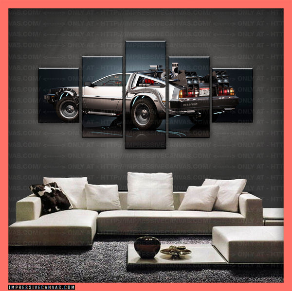 HD PRINTED LIMITED EDITION CAR CANVAS (BACK TO THE FUTURE) - (CARC160031)