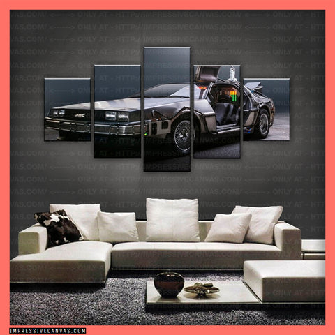 HD PRINTED LIMITED EDITION CAR CANVAS (BACK TO THE FUTURE) - (CARC160032)