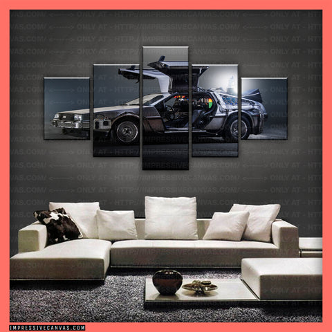 HD PRINTED LIMITED EDITION CAR CANVAS (BACK TO THE FUTURE) - (CARC160033)