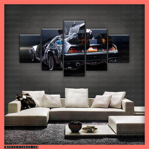HD PRINTED LIMITED EDITION CAR CANVAS (BACK TO THE FUTURE) - (CARC160034)