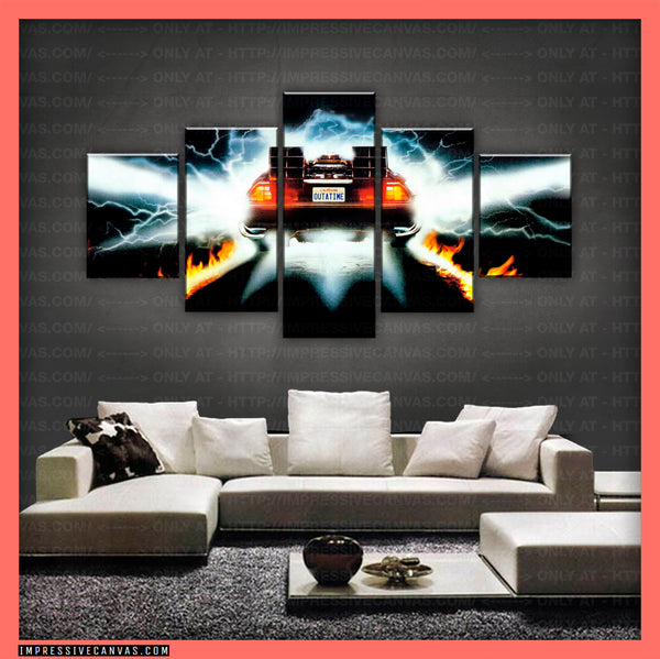 HD PRINTED LIMITED EDITION CAR CANVAS (BACK TO THE FUTURE) - (CARC160044)