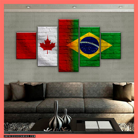 HD PRINTED LIMITED EDITION CANADIAN - BRAZILIAN (BRAZIL) CANVAS (CANBR210003Z1)