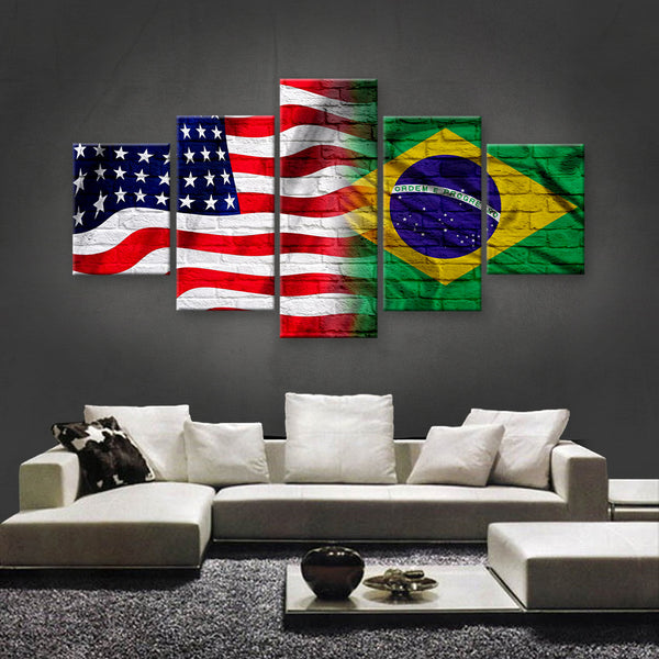 HD PRINTED LIMITED EDITION AMERICAN - SWEDISH (SWEDEN) FLAG CANVAS (FLAG150036)