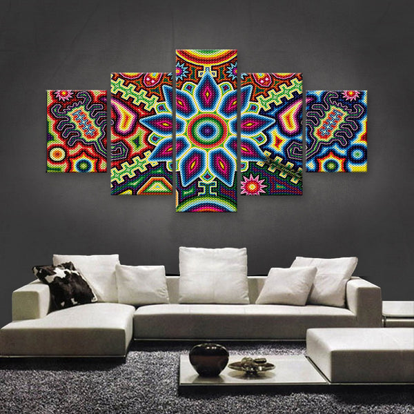 HD PRINTED LIMITED EDITION HUICHOL CANVAS (HLC155001)