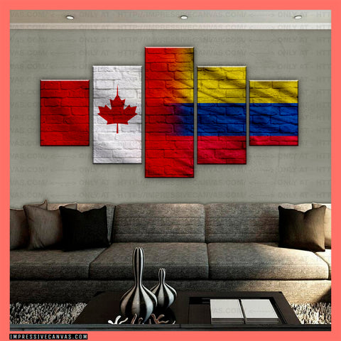 HD PRINTED LIMITED EDITION CANADIAN - COLOMBIAN (COLOMBIA) CANVAS (CANCO210004)