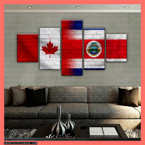 HD PRINTED LIMITED EDITION CANADIAN - COSTA RICAN (COSTA RICA) CANVAS (CANCR210005)