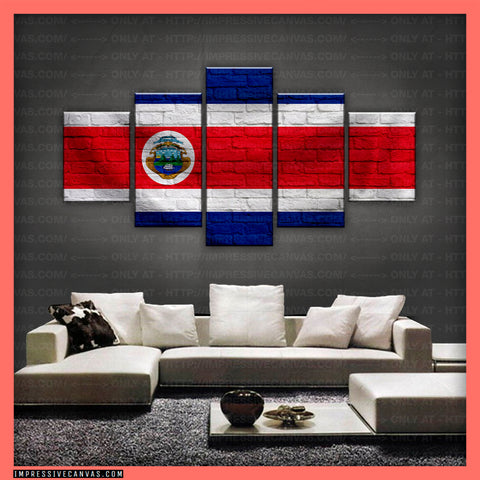 HD PRINTED LIMITED EDITION - COSTA RICAN (COSTA RICA) FLAG CANVAS (FLAG150084)
