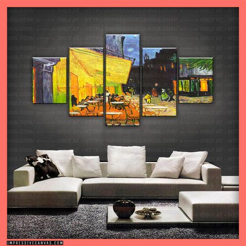 HD PRINTED LIMITED EDITION CAFE TERRACE AT NIGHT CANVAS (ARTCA150002)